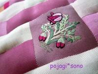 刺繍 ピンク チョガッポ