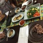 野菜たっぷりの韓国料理