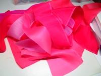 ピンクのシルク