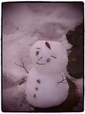 雪だるまつくろー♪