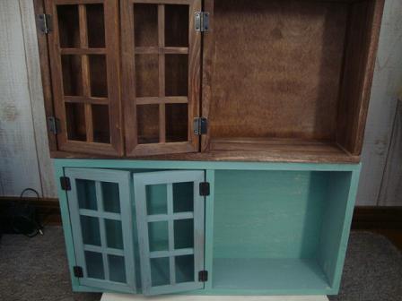 格子窓付き棚