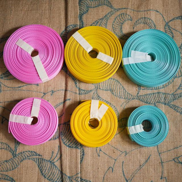 ベトナム製PPバンド、薄いピンク