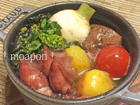 150401 ホタルイカと春野菜のアヒージョ