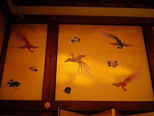 明治記念館・金鶏の間・壁