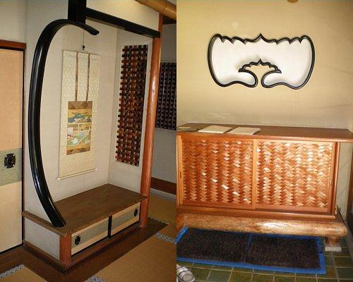 峰玉亭・玄関内装飾