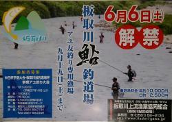 板取川上流2015鮎解禁ポスター