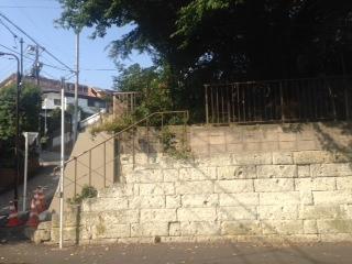 むくえのき側の崖