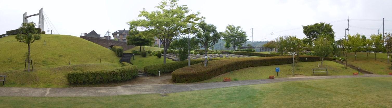 芝生が整理された公園