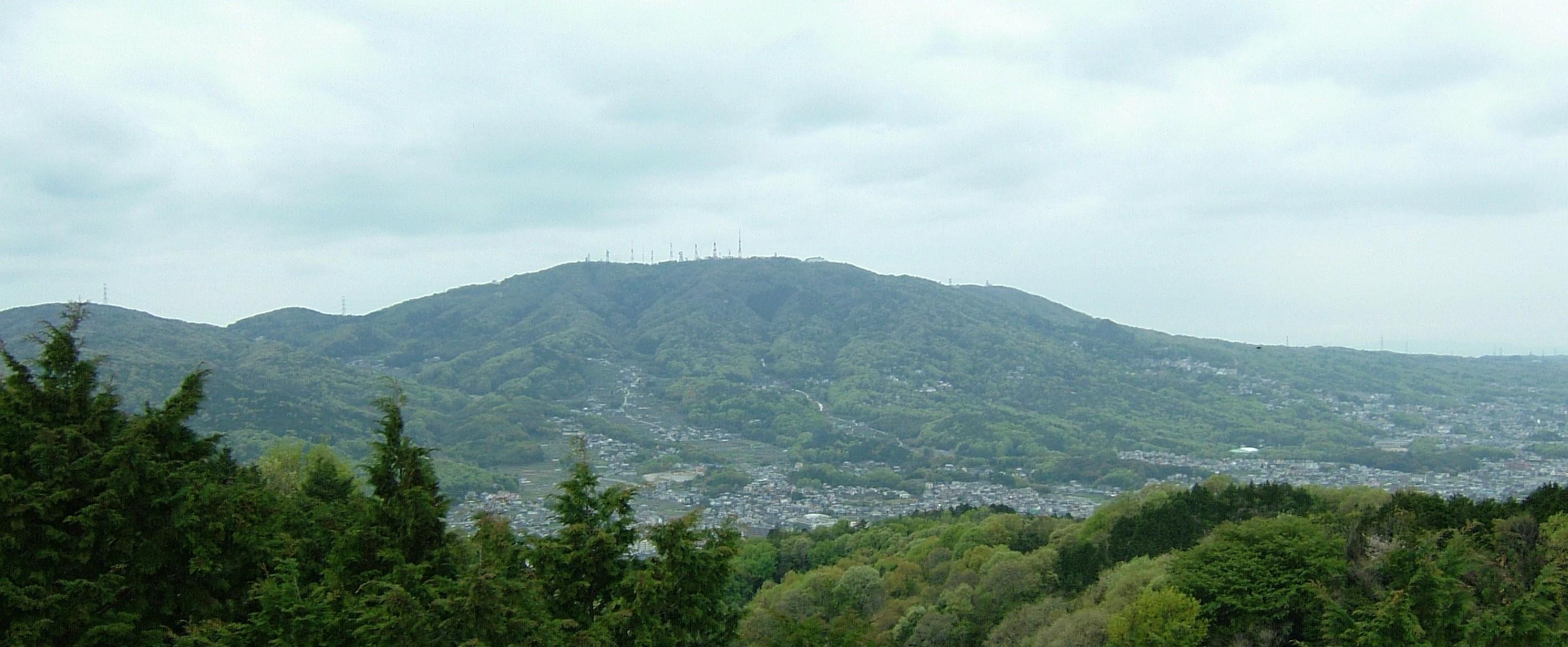 矢田丘陵から生駒山