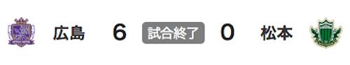 711広島6-0松本
