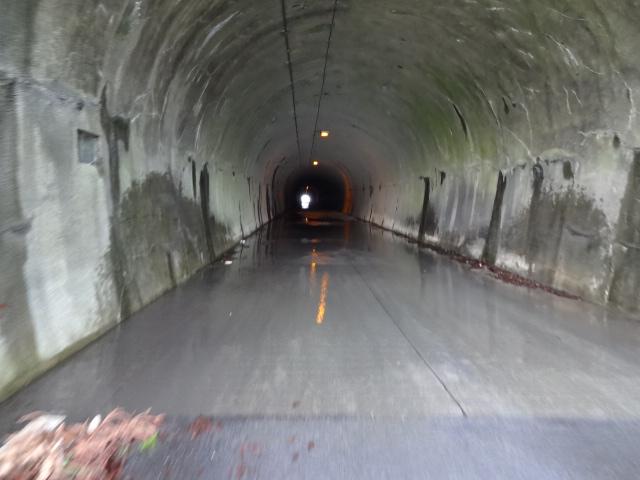 トンネルは水浸し