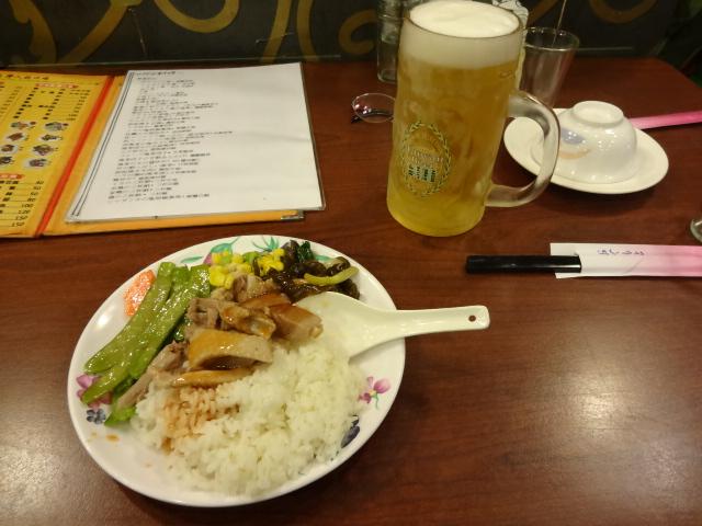 ようやく夕食