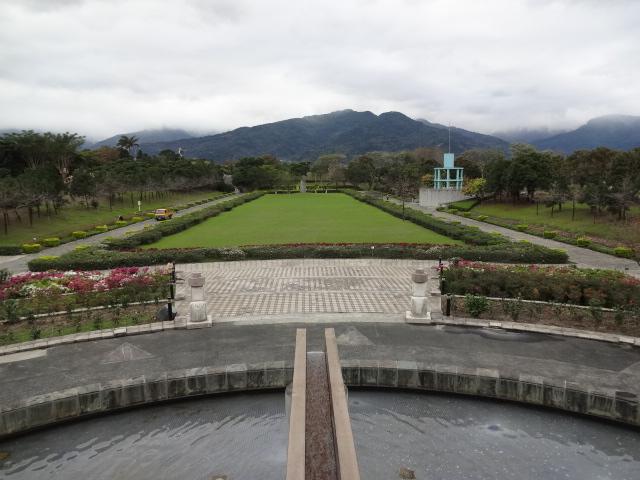 博物館の庭園