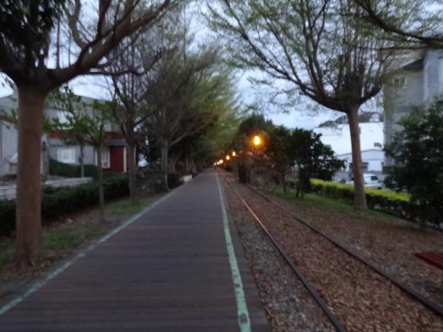 鉄道跡の散歩道