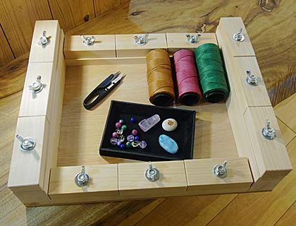 マクラメ編み台
