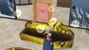 黄金の棺おけ風ベッド2