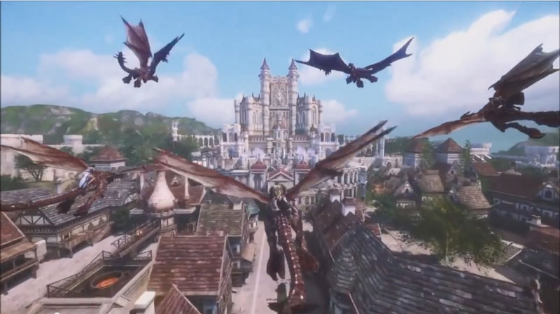 基本プレイ無料のドラゴンに乗って戦える新作ファンタジーMMORPG『イカルスオンライン』