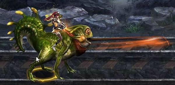 基本プレイ無料のブラウザ空中コンボアクションゲーム『ブレイドラッシュ』 幸運ルーレットに新ライド「ケロケロガエル」の登場だ!!
