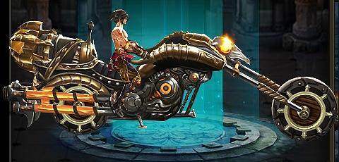 基本プレイ無料のブラウザ空中アクションゲーム『ブレイドラッシュ』 ボックスガチャに新ライド「激走バイク」の登場だ!!