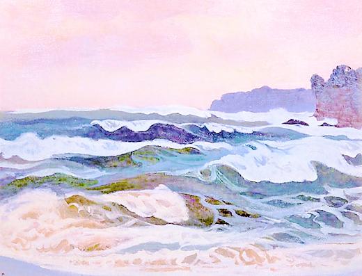 山本鼎 (1882-1946)外房しけのあと (3)