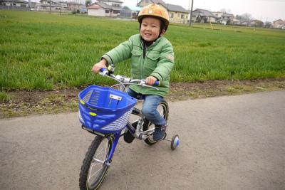 トシ君も自転車