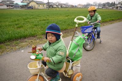ヒロ君は三輪車