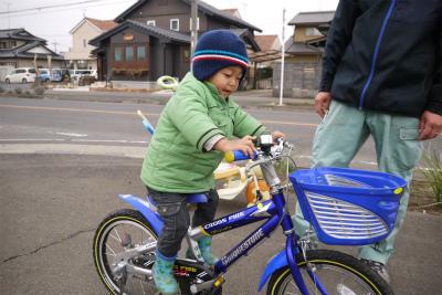 ヒロ君も自転車乗りたい