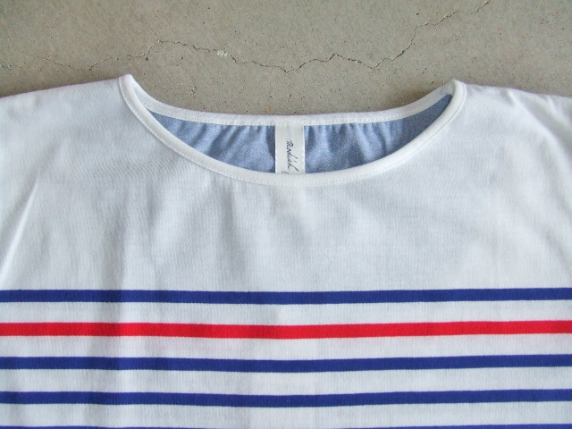 NOBRAND BORDER HALF SLEEVE TEE BLUE FT1