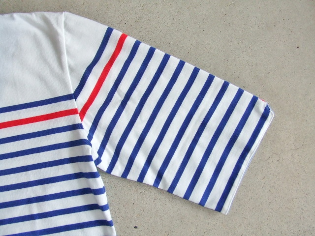 NOBRAND BORDER HALF SLEEVE TEE BLUE FT2