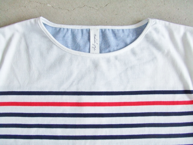 NOBRAND BORDER HALF SLEEVE TEE NAVY FT1