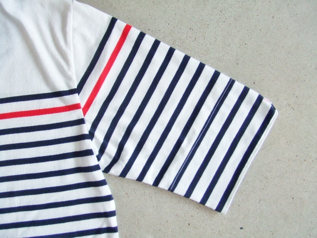 NOBRAND BORDER HALF SLEEVE TEE NAVY FT2