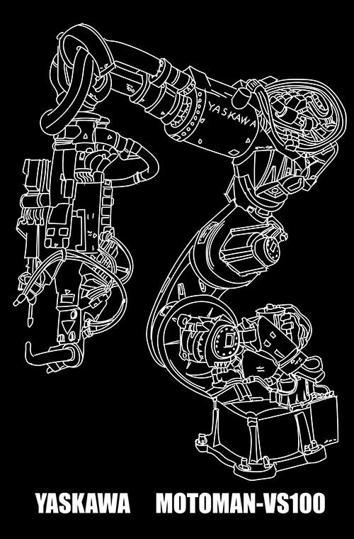 新形7軸スポット溶接ロボットMOTOMAN-VS100