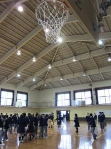 西ノ京中学校体育館1