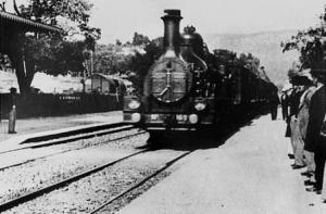 列車の到着1894