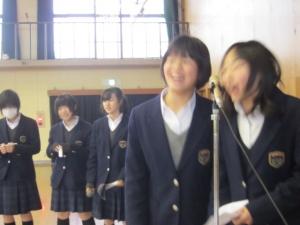西ノ京中学司会3