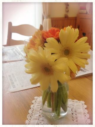 2015.3.1東別院手づくり朝市④さっちゃんお花