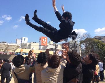 卒業式 松田