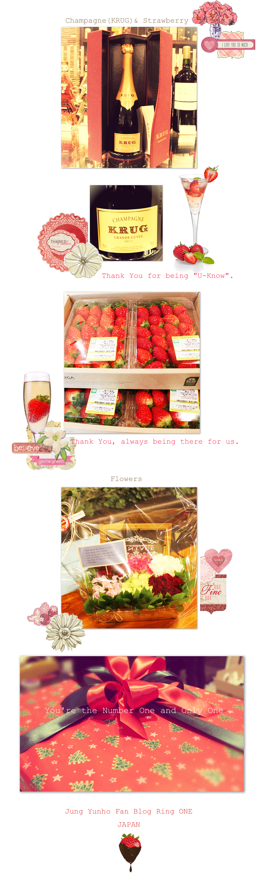 2014 ~ Fans Support & Gifts To Celebrate Yunho's 11th Debut