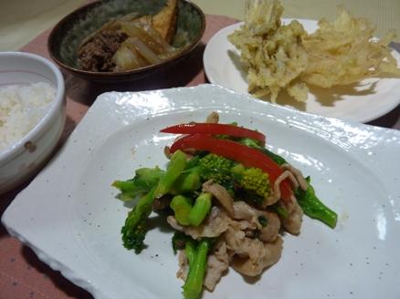豚肉と菜の花の炒め物