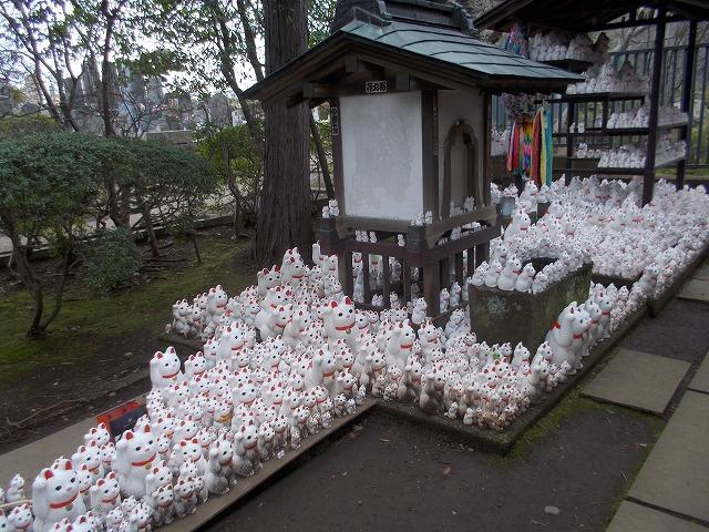 招き猫由来のお寺