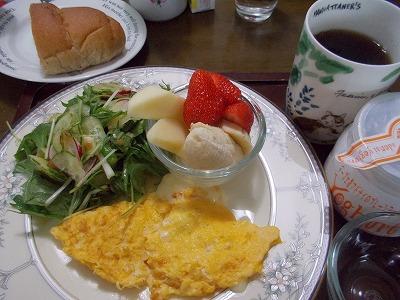 朝食モリモリ