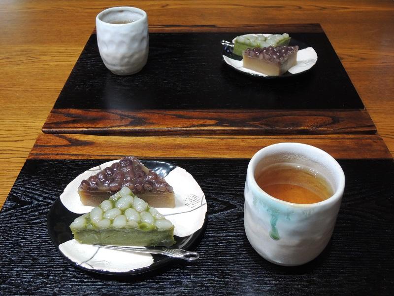 餅兵さん 水無月 と ほうじ茶