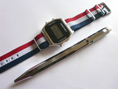 degital watch & pen
