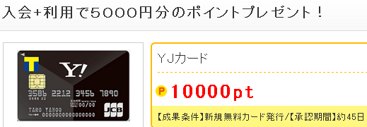 YJカード10,000pt