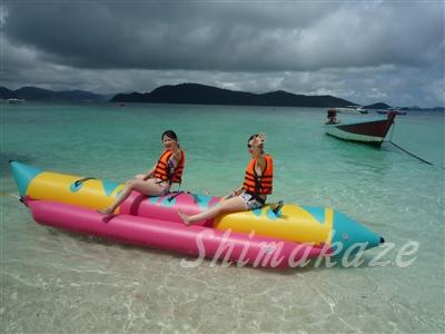 サンゴの島でマリンスポーツを満喫☆