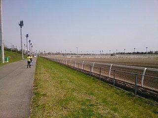 レース前の門別競馬場