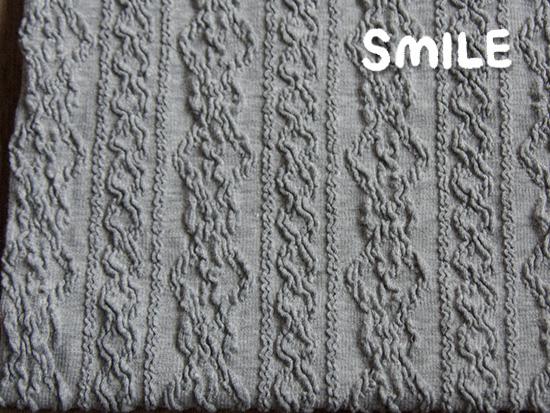 縄編みアラングレー杢