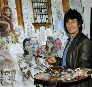 0505 ronnie wood painting