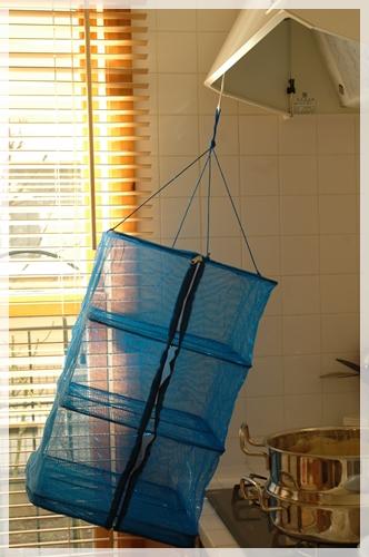 キッチンに吊り下げる