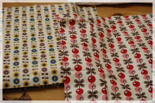 北欧柄の布2種